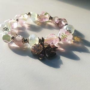 Betsey Johnson Bracelet Pink vintage style
